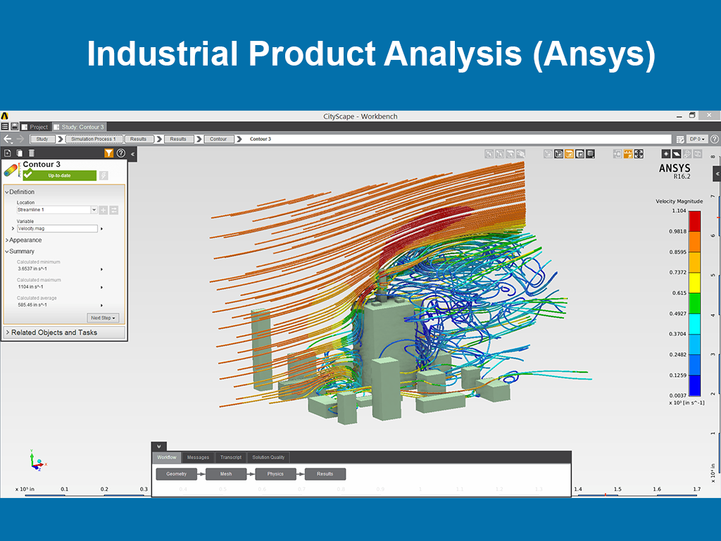 Industrial Product Analysis (Ansys)