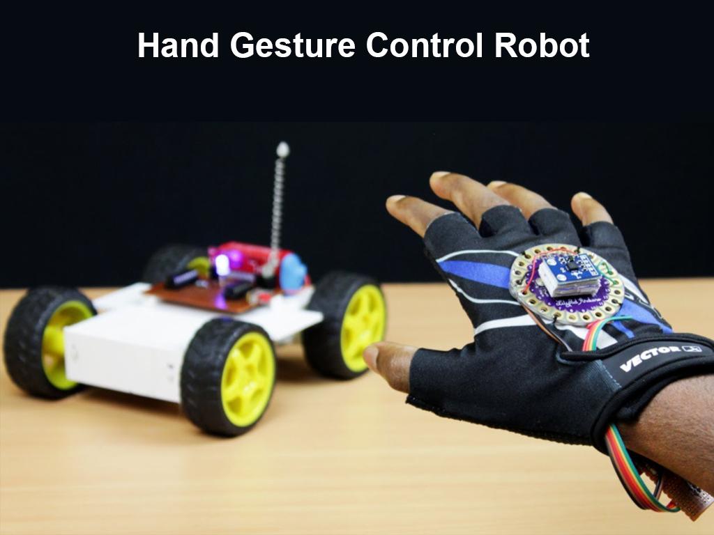 Hand Gesture Control Robot