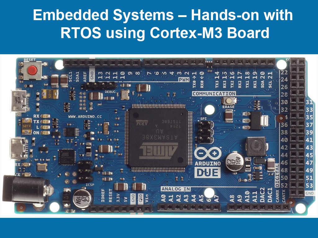 Embedded Systems – Hands-on with RTOS using Cortex-M3 Board