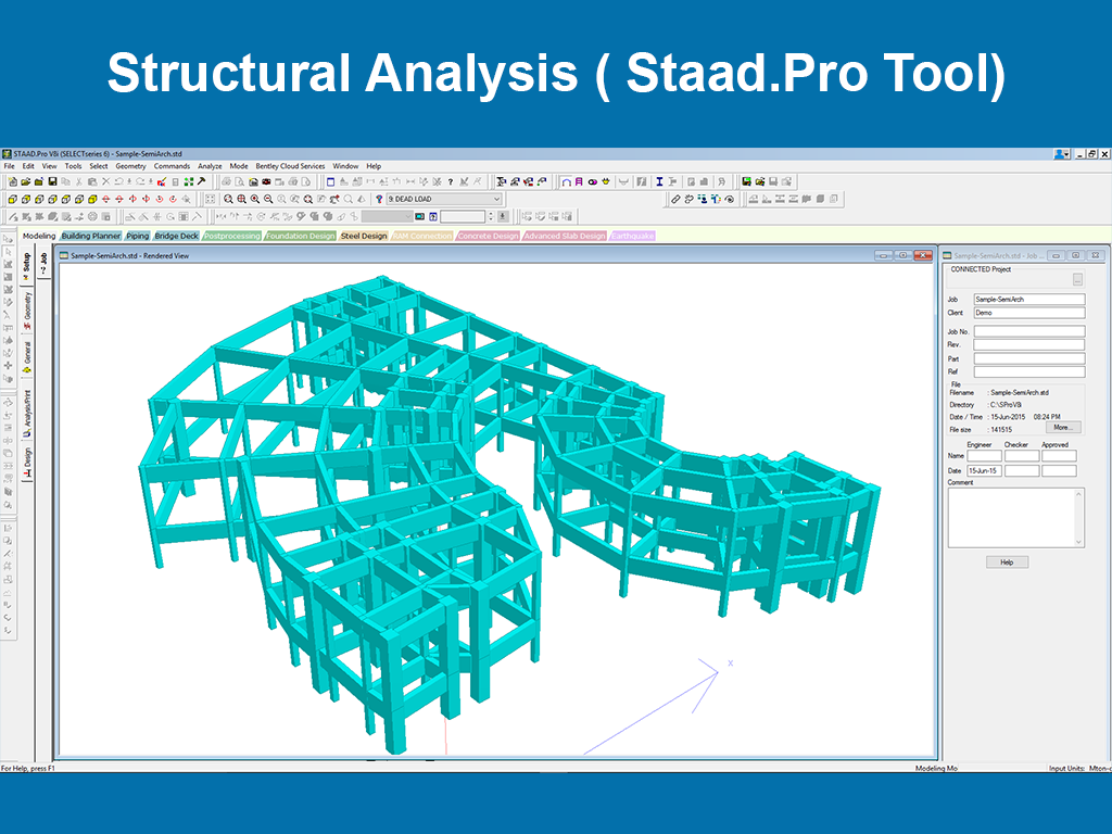 Structural Analysis ( Staad.Pro Tool)