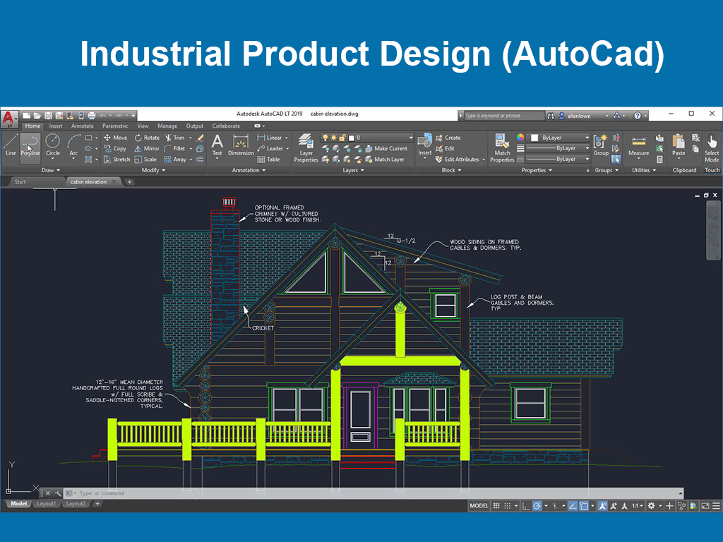 Industrial Product Design (AutoCad)